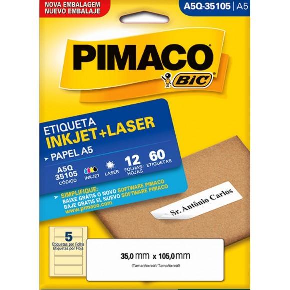 ETIQUETA A5Q – 35105 C/12FLS PIMACO
