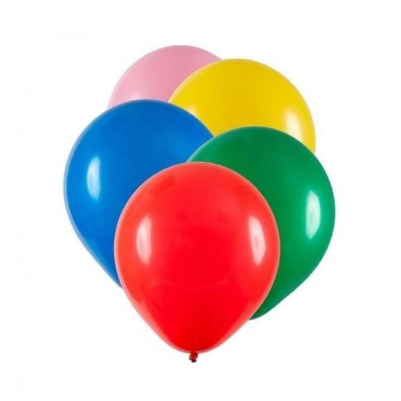 BEXIGA Nº 6,5 CORES MISTAS C/50 UNIDADES HAPPY DAY