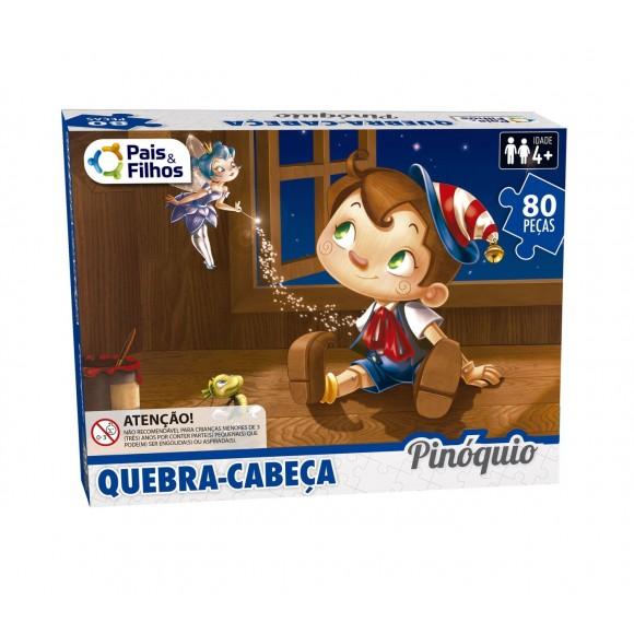 JOGO QUEBRA-CABEÇA 80 PEÇAS PINÓQUIO REF.2851 PAIS & FILHOS