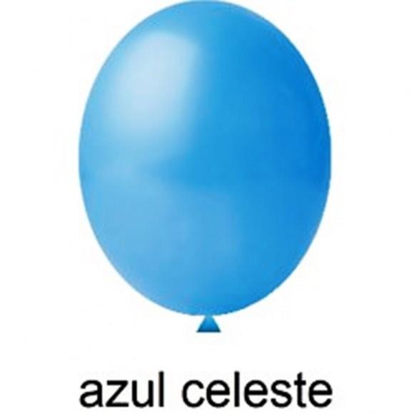 BEXIGA AZUL CELESTE Nº8 C/50 UNIDADES HAPPY DAY